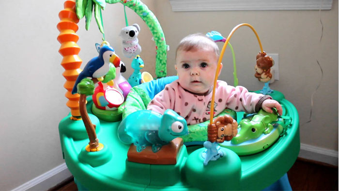 Baby Activity Center  with Cute Baby