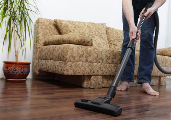 Wet Dry Vaccum Man cleaning