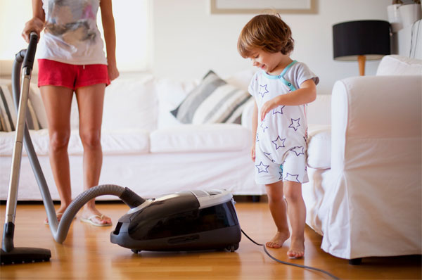 Canister Vacuum Mother and Kid