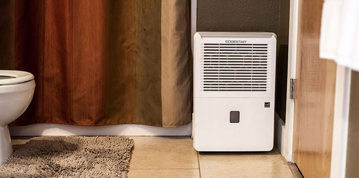 Dehumidifier in Bathroom