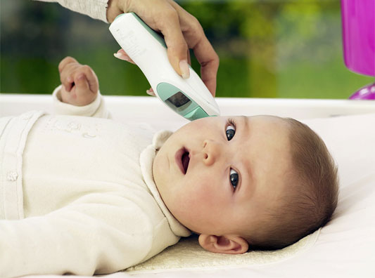 Digital Thermometer in Baby Ear