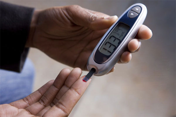 Patient Using Blood Glucose Meter
