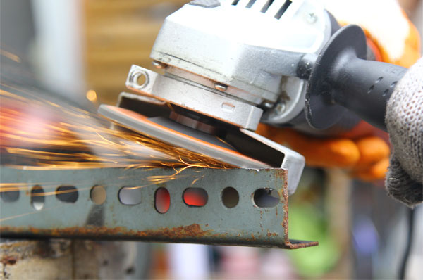 Angle Grinder on the Metal