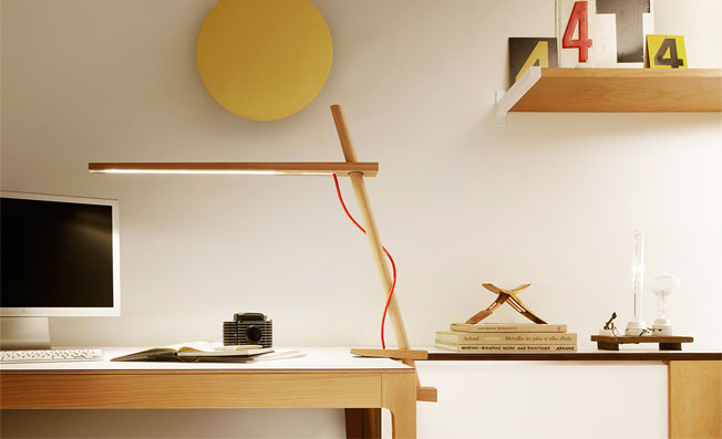 Clamp Lamp of Wooden