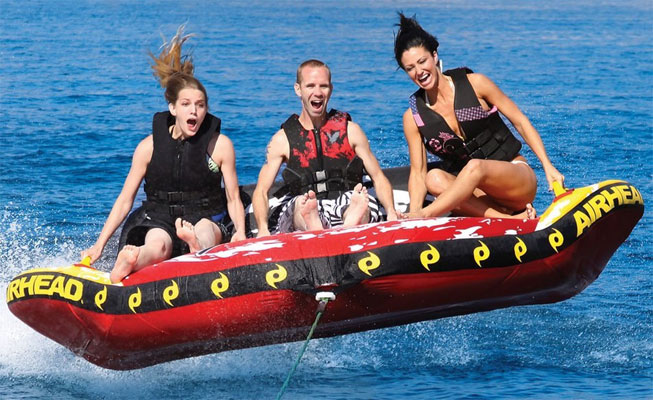 3 Person Towable Tubes Flying