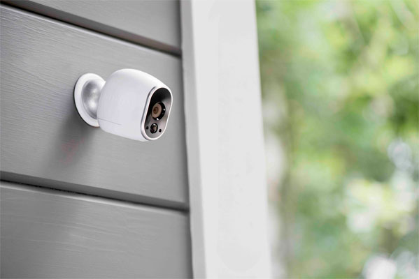 White Wireless Outdoor Security Camera Systems Home